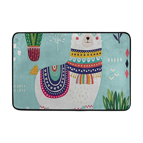 Bath Mat Exotic Alpaca Sleeping Doormat Indoor Outdoor Entrance Floor Welcome Mats Bathroom Rug