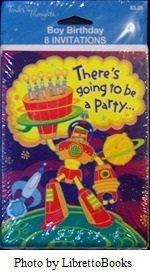 8 count Tender Thoughts Boy Birthday Invitations