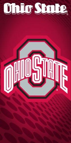 - Ohio State Buckeyes Logo Velour Beach Towel
