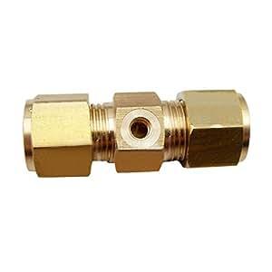 wishfive 2Pcs (latón, 3/16Boquilla de pulverización de riego de jardinería de a través de conector de tipo accesorios