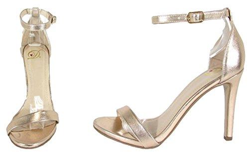 Delicious Womens Jaiden Faux Nubuck Leather Wide Strap Single Sole Heels 4 Dk Penny gGl8UYolKB