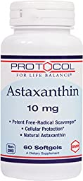 Protocol For Life Balance - Astaxanathin 10 mg - Immune & Respiratory Support - 60 Softgels