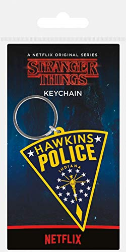 1art1® Stranger Things - Hawkins Police Patch Llavero (6 x ...