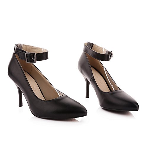 BalaMasa donna, tomaia a punta Imitated Leather pumps-shoes, Nero (Black), 35
