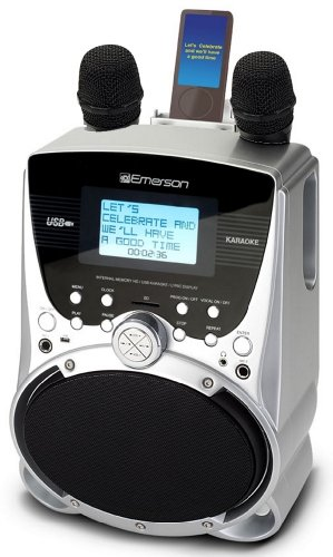Emerson SD514 Portable Karaoke Player With 100 Pre-Loaded Karaoke Songs MP-3 Music & Lyric and Preloaded Songs ()