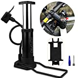 Hopopro Mini Bike Pump Bike Tire Pump Mini-Sized Bike Floor Pump Bike...
