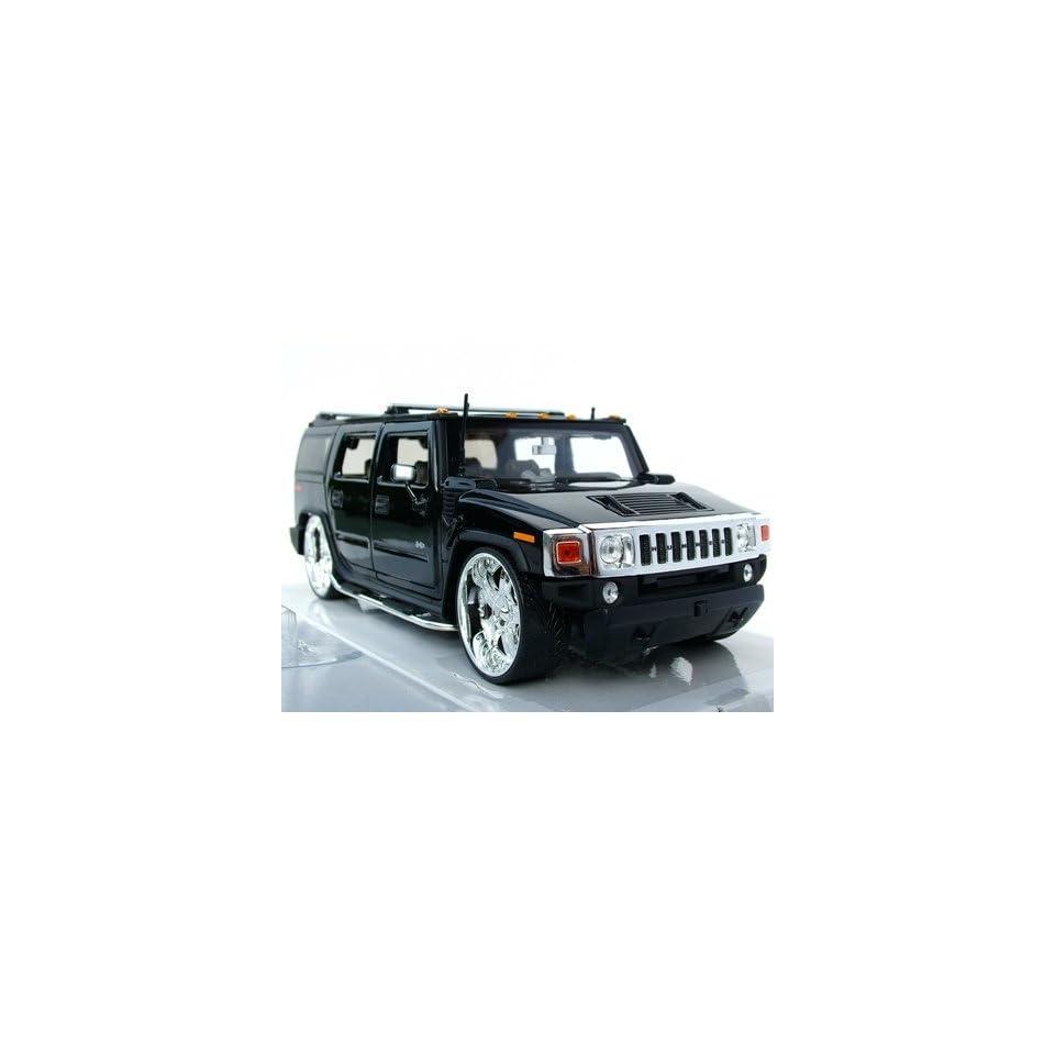 Jada Dub City Kustoms Black Hummer H2 124 Scale Die Cast SUV