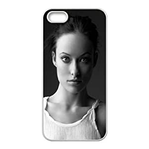 Celebrities Olivia Wilde In Black And White iPhone 4 4s Cell Phone Case White Protect your phone BVS_594237