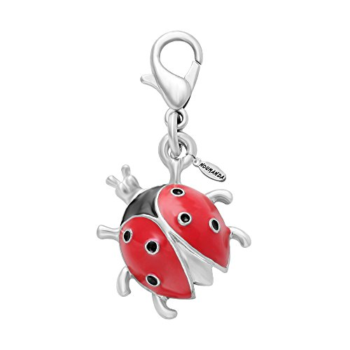 NOUMANDA Insect Jewelry Tiny Ladybug Charm for Bracelet,Necklace,Keyring (1 -