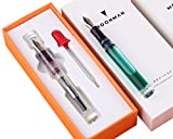 NEW Moonman C1 Eye Dropper Filling Fountain Pen Fully Transparent Large-Capacity Ink Storing