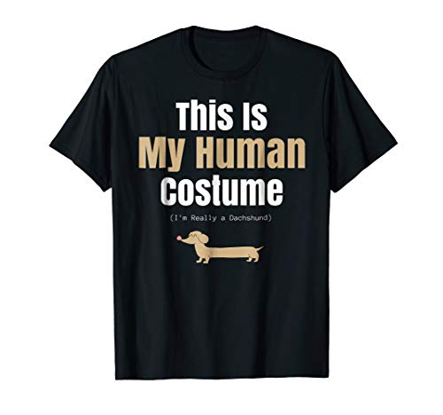 Funny Dachshund Halloween T Shirt for Human Costume Parties -