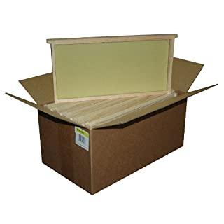 Mann Lake WW906 10-Pack Assembled Commercial Frames with Waxed Natural Rite-Cell Foundation, 9-1/8-Inch