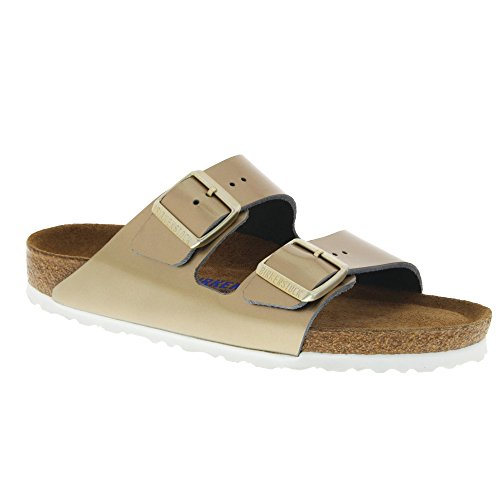 8a671d7e3e2e Galleon - Birkenstock Arizona Platin Soft Footbed Leather Sandal 41 R (US  Women s 10-10.5)
