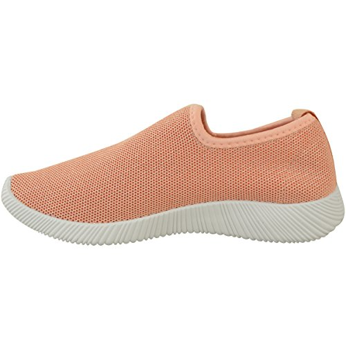 Peach Comfort Womens Size Stretch On Fashion Slip Gym Sport Knit Pink Knit Sneakers Thirsty q1tnax5w76