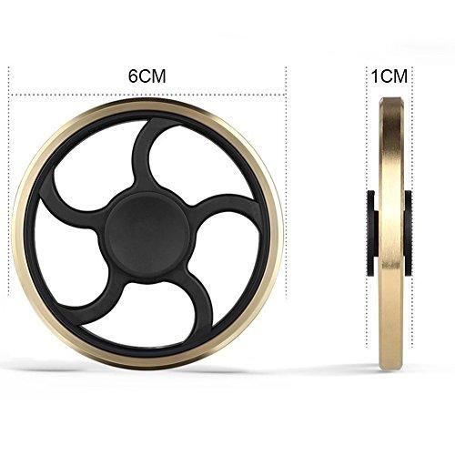 Fidget Spinner, figet spinner Toy Time Killer Golden Steering Wheel