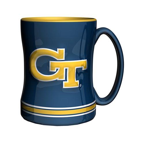 (NCAA Georgia Tech Yellow Jackets Sculpted Relief Mug, 14-Ounce)