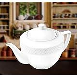 Wilmax WL-880110, 30 oz. Julia Collection White Porcelain Tea Pot, Classic European Bone China Traditional Teapot with Lid, Gift Box