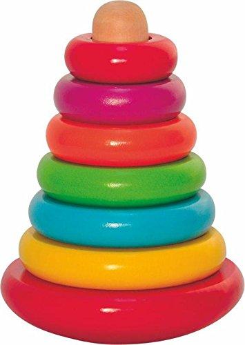 Stapelspielzeug goki Stapelturm Stehauf-Bärchen 58916 Spielpyramide aus Holz