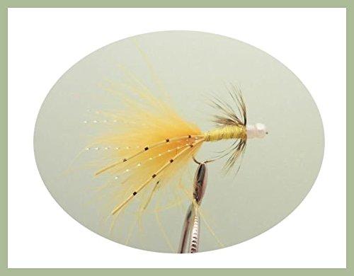 6 pezzi di Sunburst Damsel Trout Flies, taglia: 10, per pesca con la mosca