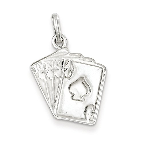 Sterling Silver Playing Card - West Coast Jewelry Sterling Silver Playing Card's Charm