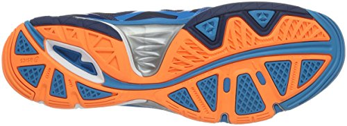 Asics Gel-Volley Elite 3, Zapatillas de Voleibol para Hombre Azul (mt Blue/white/hot Orange)