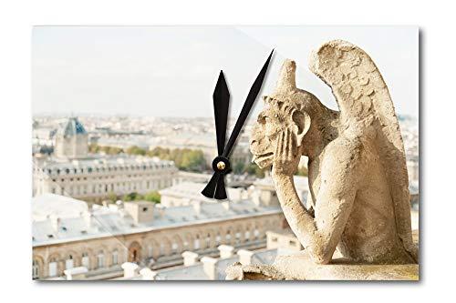 Lantern Press Gargoyle on Notre Dame, France Photography A-91332 (Acrylic Wall Clock)