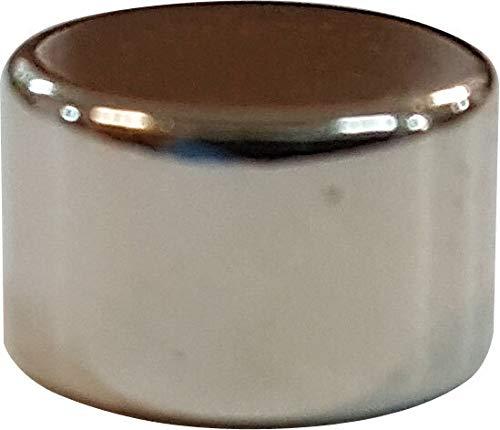 Magnet Totenkopf #1301006 metALUm runder Acrylmagnet mit starkem Neodym