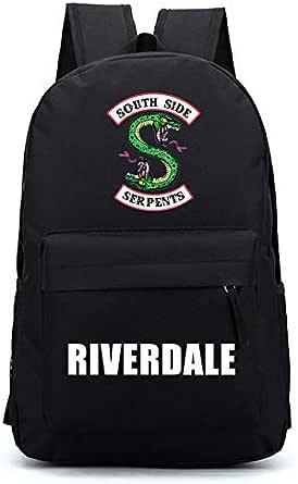 حقيبة ظهر Riverdale النسائية سوداء كبيرة السعة حقيبة مدرسية حقيبة ظهر للرجال حقيبة مدرسية حقيبة لاب توب أكسفورد حقيبة