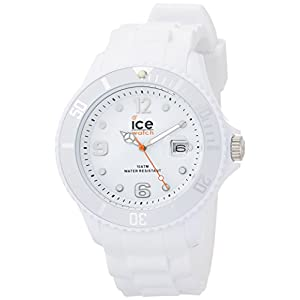 Ice-Watch Men's SI.WE.B.S.09 Sili Collection White Plastic and Silicone Watch