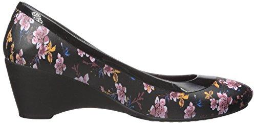 Crocs Womens Lina Graphic W Zeppa Pump Nero / Floreale