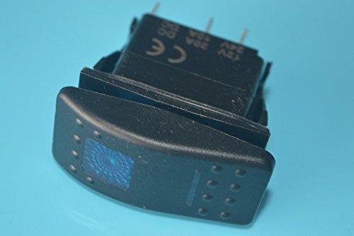 12 Volt BLUE Bright Light Powersports BEER TIME- Universal On//Off Laser Rocker Switch