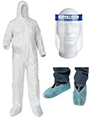 PPE Kit (Coverall, Face Shield, Shoes Cover) | PPE Suit | Travel Kit | Personal Protection Kits | Ready Stock in Singapore