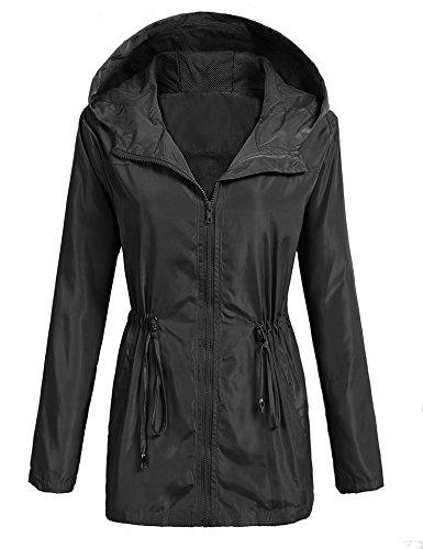 htweight Waterproof Rain Jacket Active Outdoor Hooded Raincoat Windbreaker ()