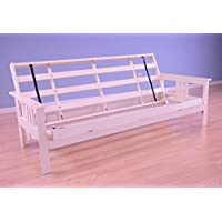 Full Size Monterey Wood Futon Frame Only, Mattress NOT included | Antique White