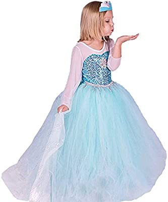 Elsa Anna Filles Reine Des Neiges Princesse Partie Costumee Deguisements Robe De Soiree Fr Fr314 2 3 Ans Code De Taille Xs Amazon Fr Jeux Et Jouets