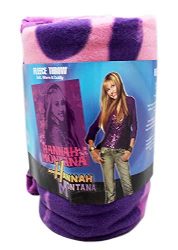 (blanket Disney's Hannah Montana Pop Star Silhouette Pink/Violet Fleece)