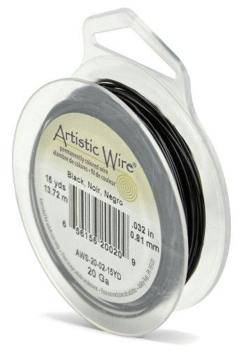 - Artistic Wire 20-Gauge Black Wire, 15-Yards