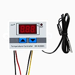 Digital Temperature,LtrottedJ 220V Digital LED Temperature Controller 10A Thermostat Control Switch Probe New