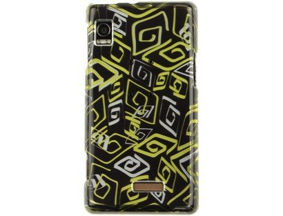 A955 Snap (Fits Motorola A855 Droid Hard Plastic Snap on Cover 2D Silver Loop Gold Verizon (does not fit Motorola A955 Droid II))