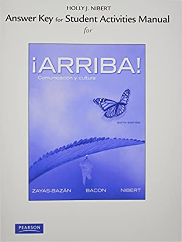 Amazon answer key for the student activities manual for arriba answer key for the student activities manual for arriba comunicacin y cultura 6th edition fandeluxe Images