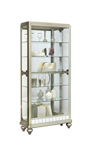 Pulaski P021568 Mirrored Metallic Side Entry Curio Cabinet 35.3