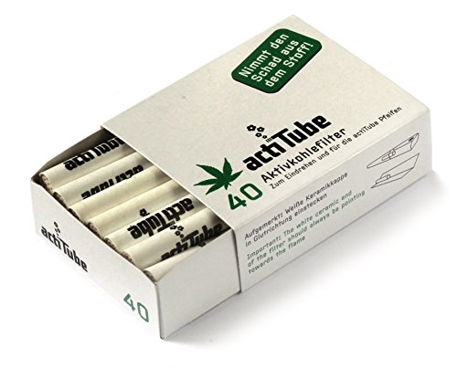 actiTube - activated CHARCOAL filters for rolling 9mm - 1 box = 40 filters by actiTube