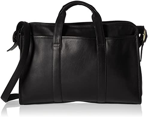 Royce Leather Slim Executive 13 Laptop Briefcase Handcrafted in Leather, Black, One Size