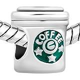 JewelryHouse Fashion Coffee Cup Bead Charms For