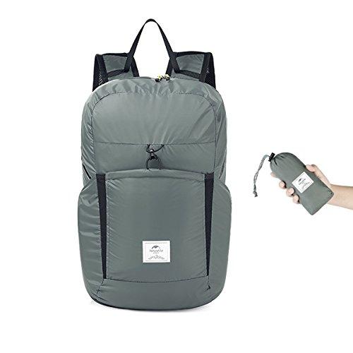 b17ca63448 Naturehike 18L Hiking Daypacks Waterproof Lightweight Packable Camping  Backpack (25L Gray)