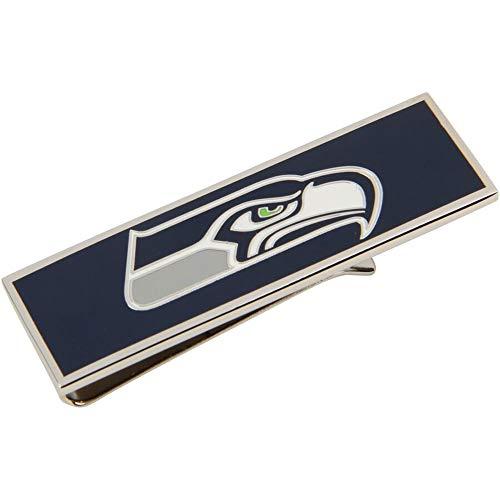 cufflink Seattle Seahawks Enamel Money Clip NFL Silver Blue Money Clip