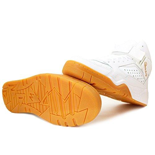 Patrick Ewing Hommes 33 Salut Chaussures De Basket-ball Blanc-gomme