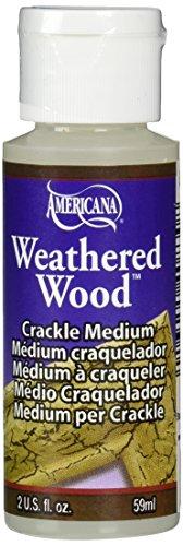 DecoArt DAS8-3 Americana Mediums Paint, 2-Ounce Paint, Weathered (Medium Antique Finish)