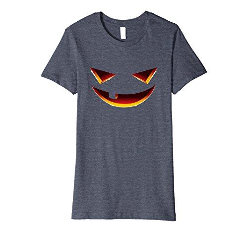 Womens Halloween Smiling Face - Creative Costume Idea Shirt XL Heather Blue (Creative Female Halloween Costume Ideas 2017)