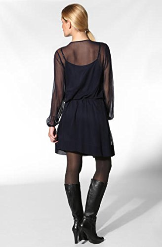 Dress Kleid Hechter Größe Blau Farbe 38 Unifarben Daniel Damen Seide EIgpwxqTq